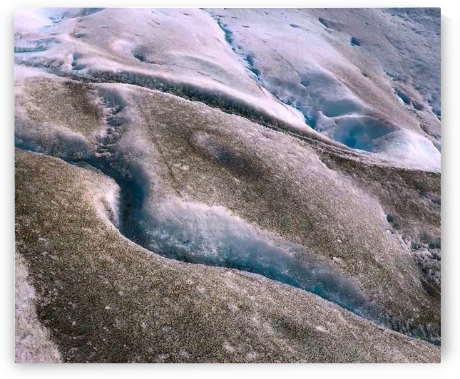 Blue Ice Fissures  in Glacier by Creative Endeavors - Steven Oscherwitz