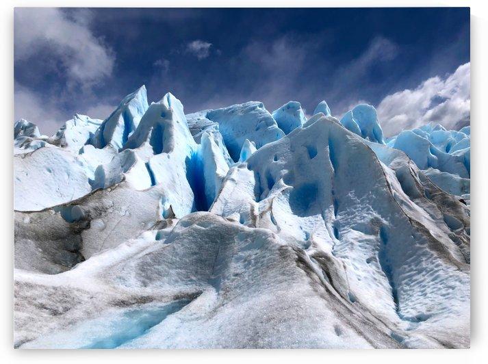 Blue Ice Pinnacles on Perito Moreno Glacier by Creative Endeavors - Steven Oscherwitz