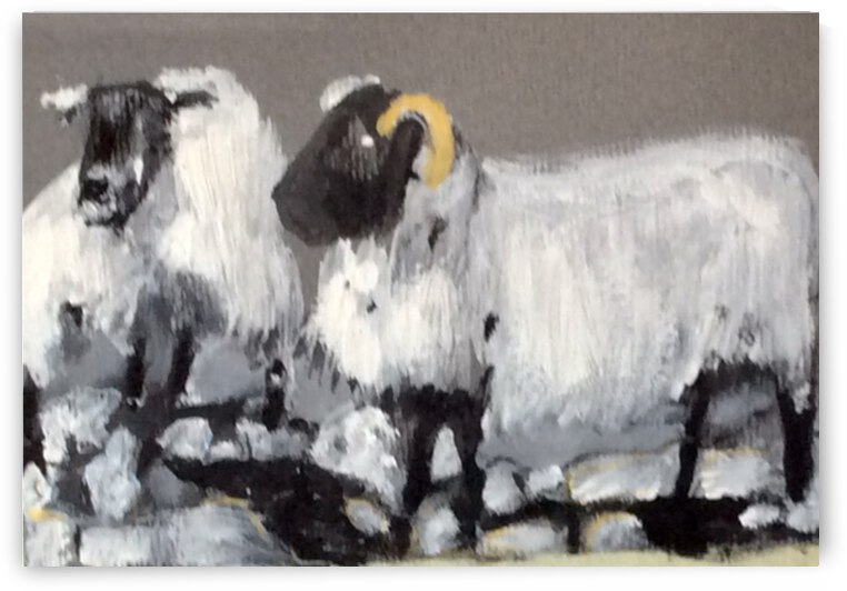 My  sheep know my name by Zaramar Paintings