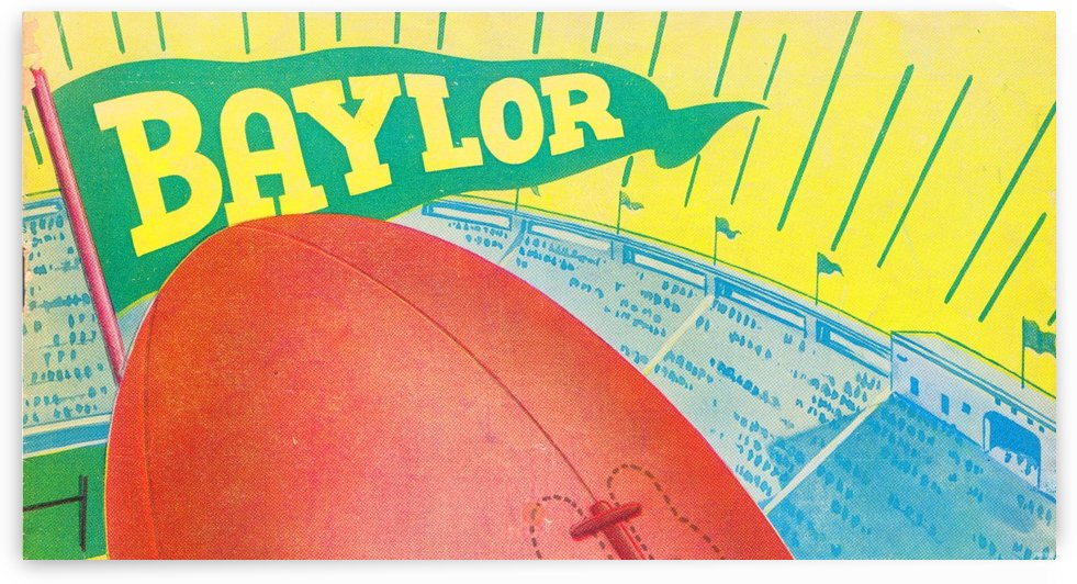 Baylor Bears Football Pennant Poster (1935) by Row One Brand