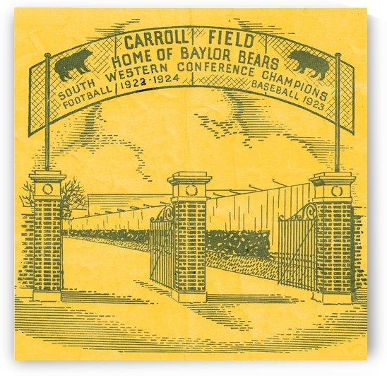 Vintage Baylor Bears Football Stadium Art Carroll Field Poster (1935) by Row One Brand