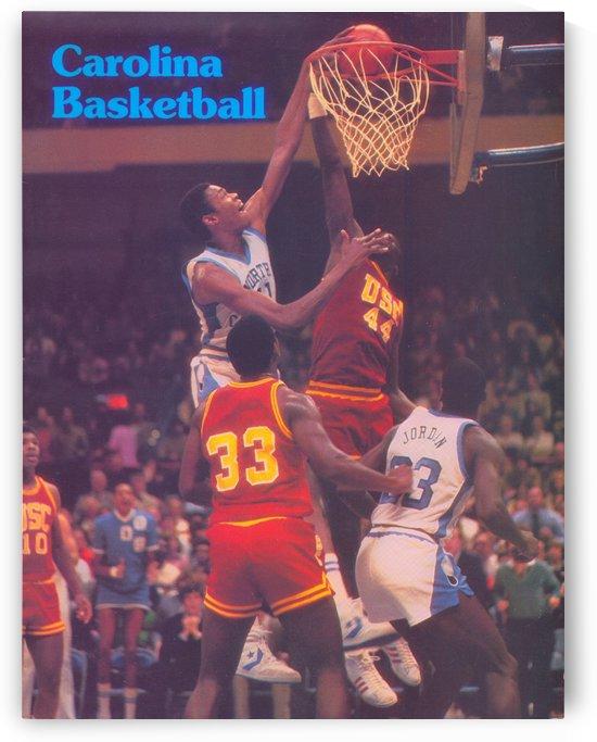 1982 North Carolina UNC Tarheels Basketball Michael Jordan Poster by Row One Brand