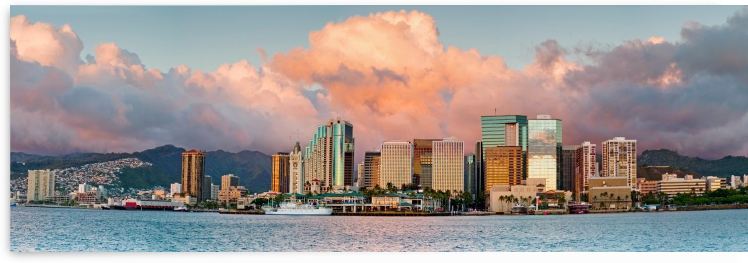 Honolulu Panoramic by Jerry Omo jr