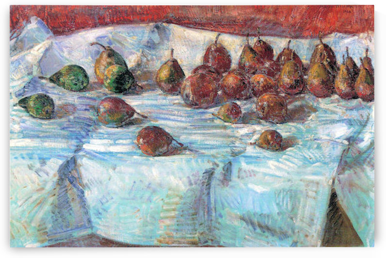 Winter Sickle Pears  by Hassam by Hassam