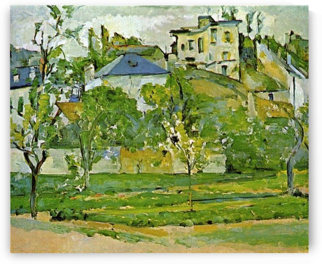 Fruit garden in Pontoise by Cezanne by Cezanne