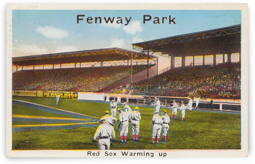 Vintage Boston Red Sox Art Fenway Park Poster Print by Row One Brand