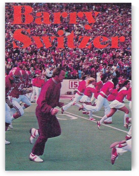 Barry Switzer_Oklahoma Football_Poster_Retro College Football Posters by Row One Brand