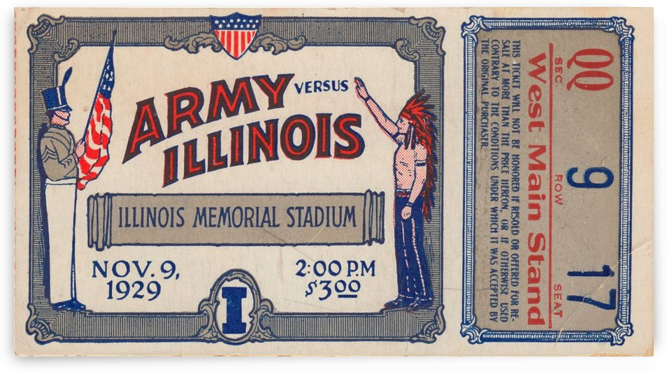 1929 Army vs. Illinois by Row One Brand