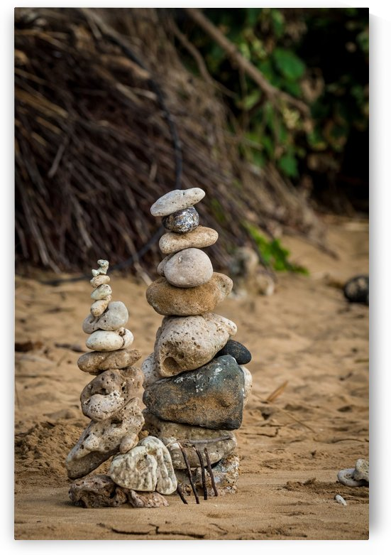Rocks Stacked at the Beach   Maui Hawaii 2633 by @ThePhotourist