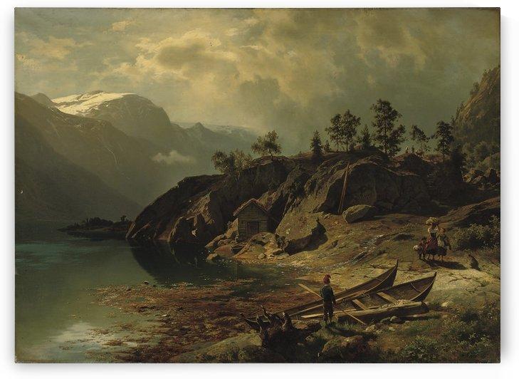An einem Bergsee by August Wilhelm Leu