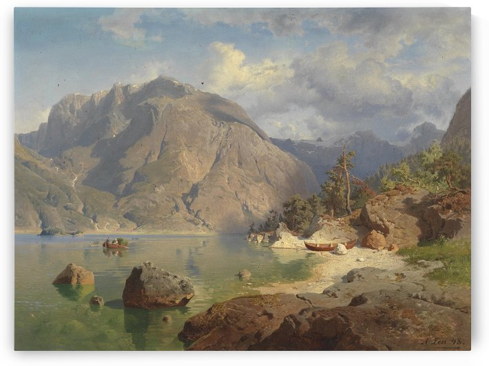 Gebirgssee by August Wilhelm Leu