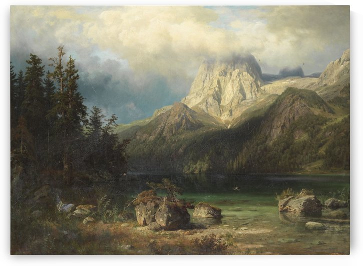 Gebirgslandschaft (1857) by August Wilhelm Leu