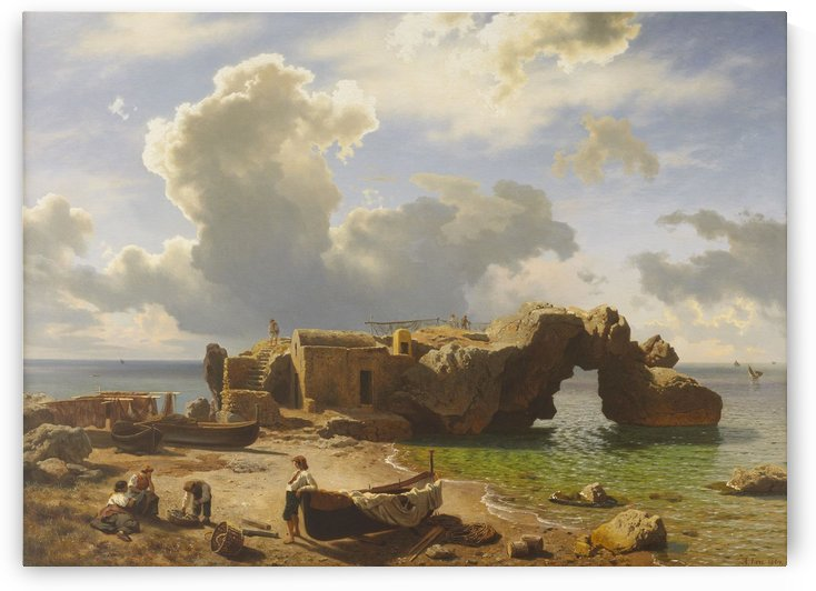 Marina Piccola Bay, Capri by August Wilhelm Leu