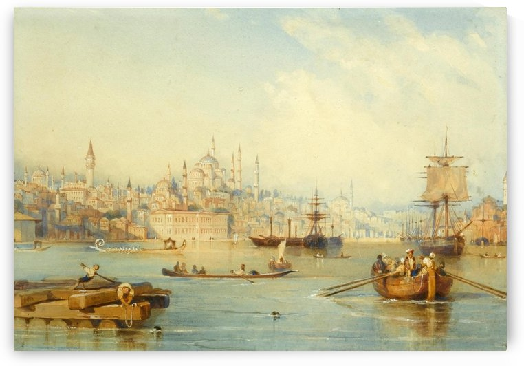 Constantinople from the Entrance of the Golden Horn by Thomas Allom
