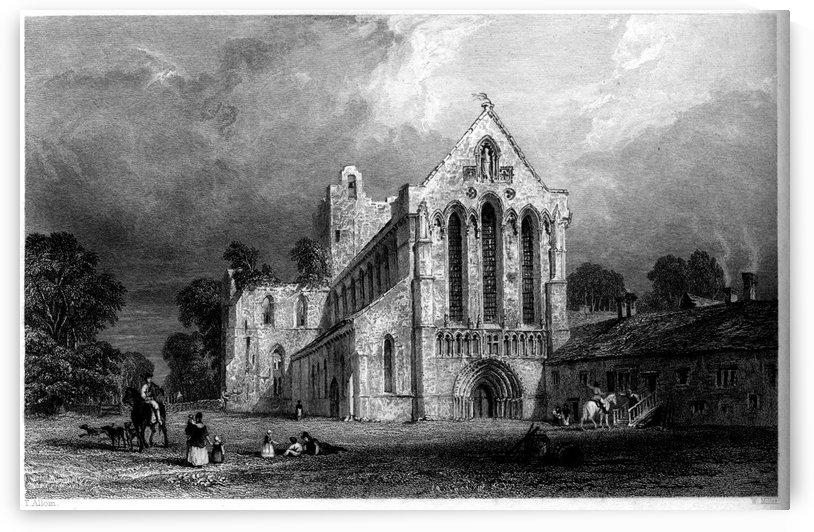 Llanercost Priory, Cumberland engraving by Thomas Allom