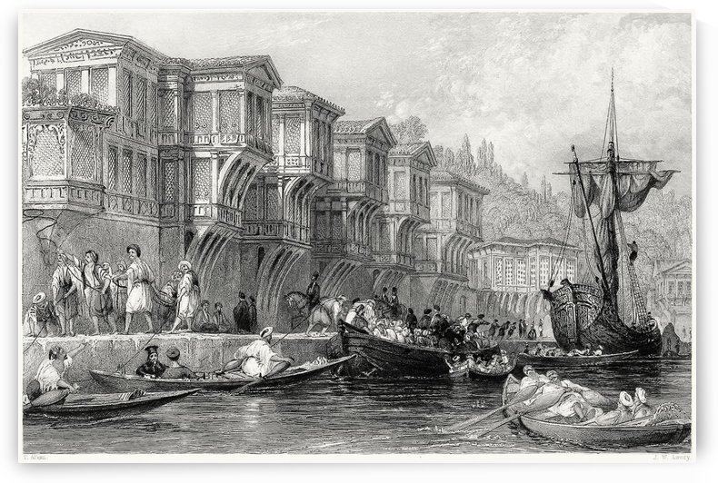 The palace of Said Pasha by Thomas Allom
