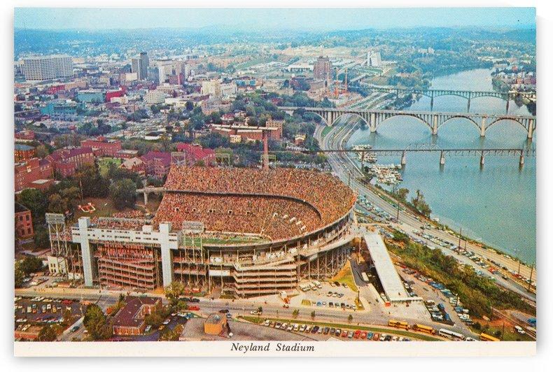 Vintage Neyland Stadium Art_Tennessee Vols_College Football Stadium Art Poster_Metal Prints_Canvas by Row One Brand