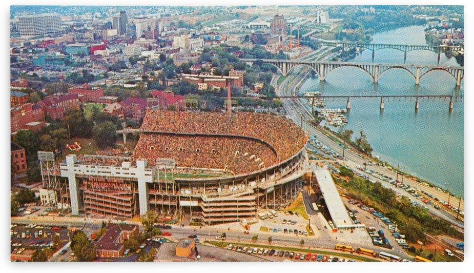 Vintage Neyland Photo_Best Tennessee Football Photos_College Football Stadium Art by Row One Brand