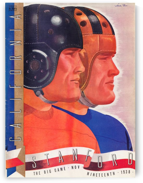 1938 College Football Big Game Rivalry Cal vs. Stanford Program Cover Art Reproduction by Row One Brand