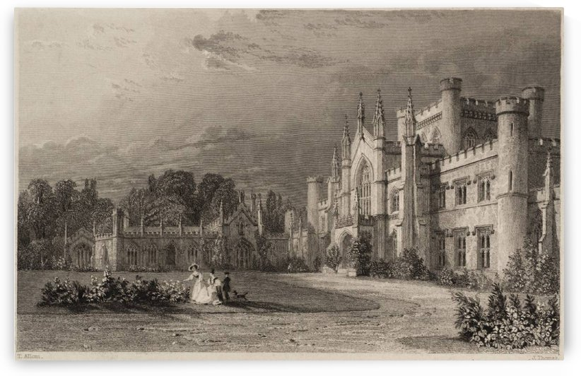 South View of Lowther Castle, the Seat of William Lowther, Earl of Lonsdale by Thomas Allom