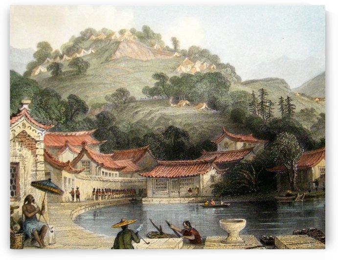 British encampment in Chusan, 1843 by Thomas Allom
