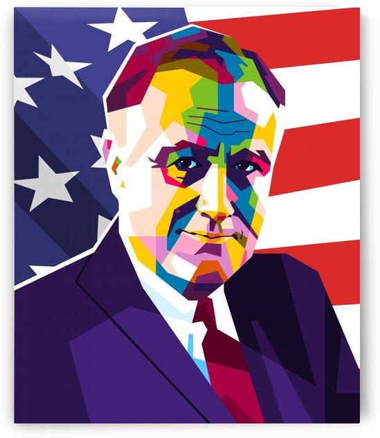 Franklin D. Roosevelt by wpaprint