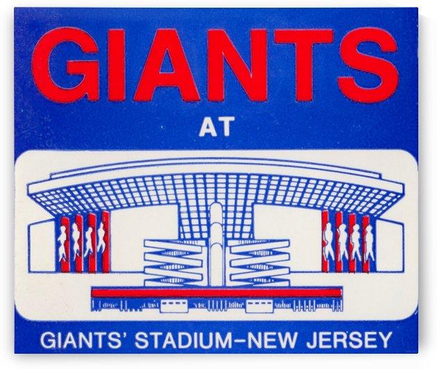 Giants Stadium New Jersey Art (1976) by Row One Brand