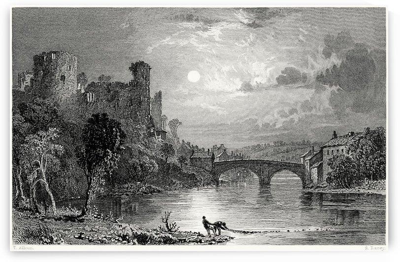 Barnard castle, county of Durham by Thomas Allom