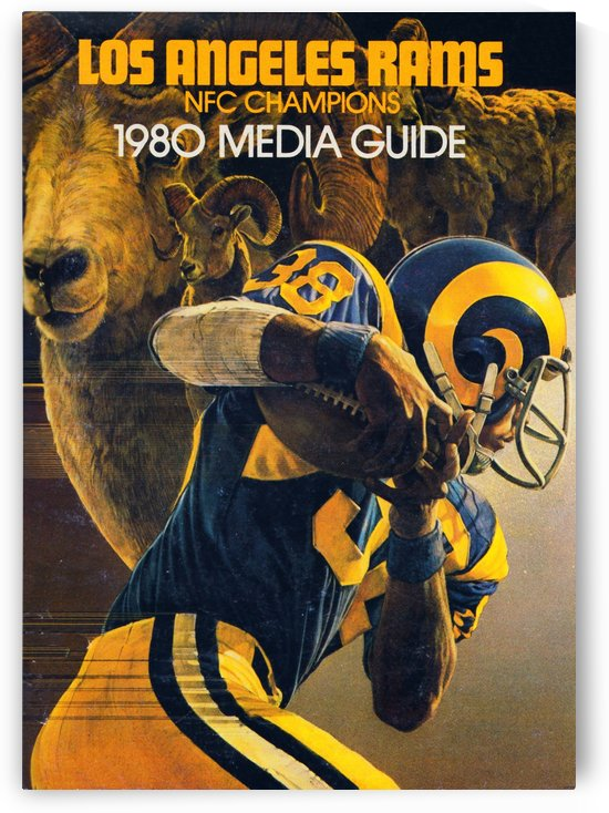 1980 Los Angeles Rams Media Guide Poster Reproduction_Artist Chuck Ren by Row One Brand