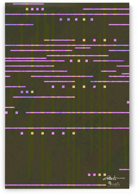 Data Stream in Fuschia & Umber 2x3 by Veratis Editions