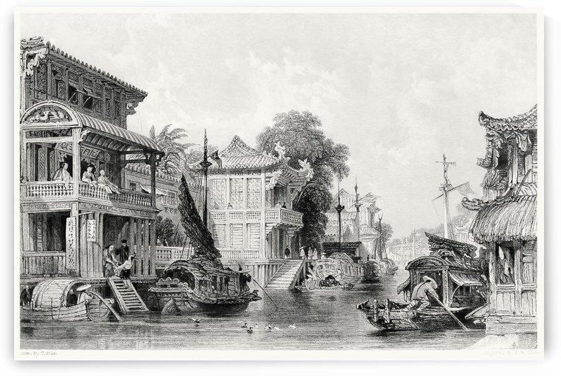 City scenes in Canton by Thomas Allom