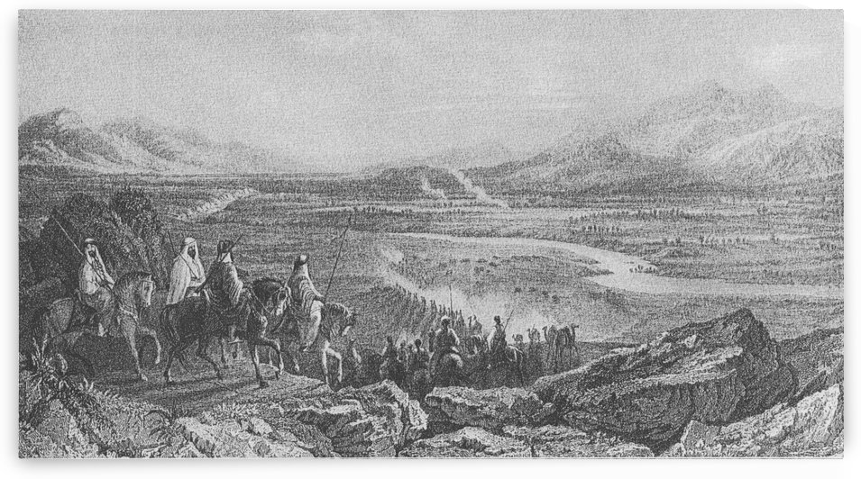 Jefte en el Valle del Jordan by Thomas Allom