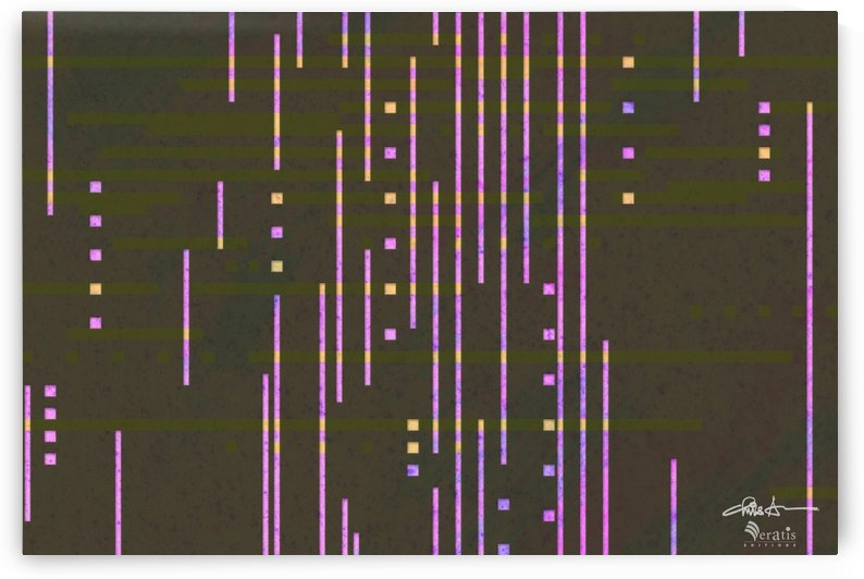 Data Drops in Fuschia & Umber 3x2 by Veratis Editions
