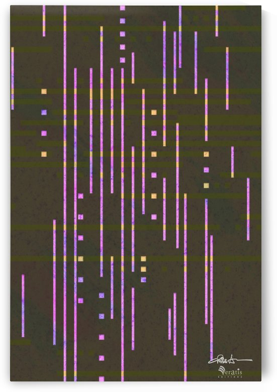 Data Drops in Fuschia & Umber 2x3 by Veratis Editions