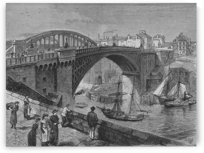 Sunderland bridge over the wear by Thomas Allom