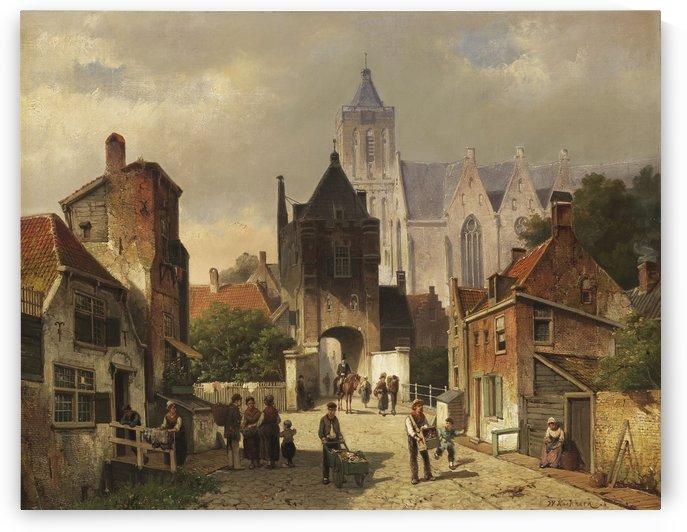 Nederlands Stadsgezicht by Willem Koekkoek