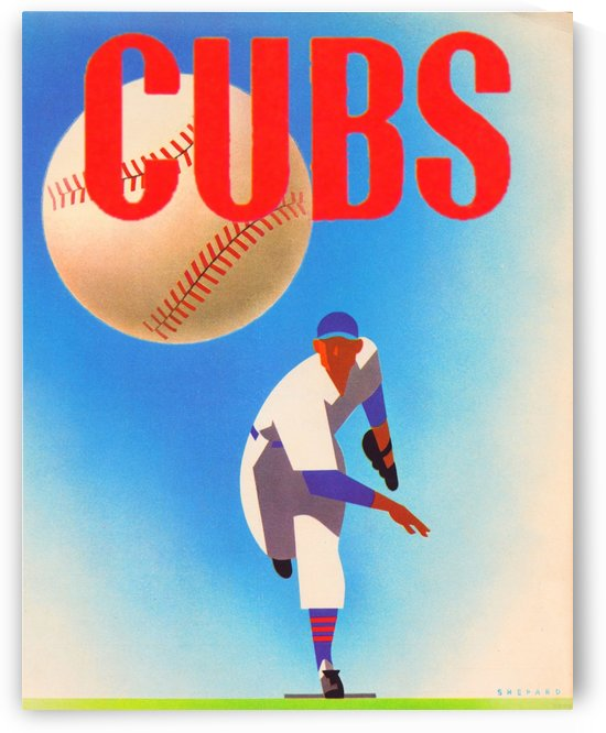Row One Brand_Otis Shepard Remixes_Public Domain Sports Art Remixes_Chicago Cubs Vintage Posters by Row One Brand