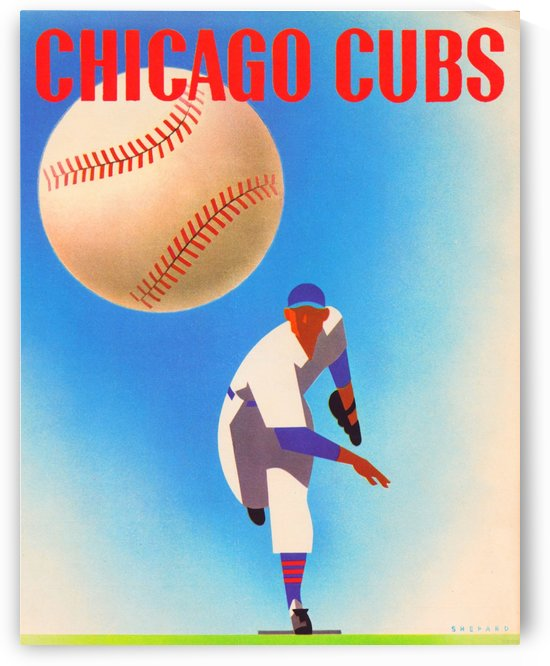 OtisShepardRemix_PublicDomainSportsArtRemixes_ChicagoCubsPosterbyRowOne by Row One Brand