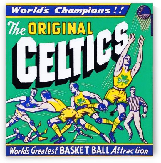 VintageCelticsBasketballArt_OriginalCelticsPoster by Row One Brand