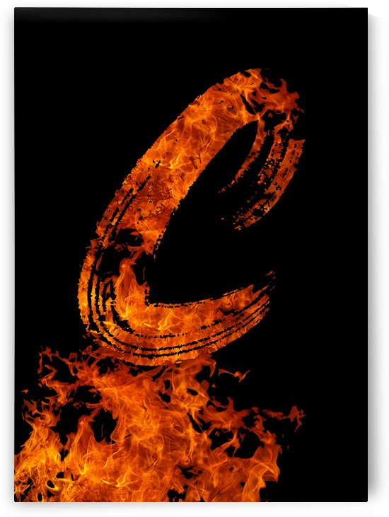 Burning on Fire Letter C by Artistic Paradigms