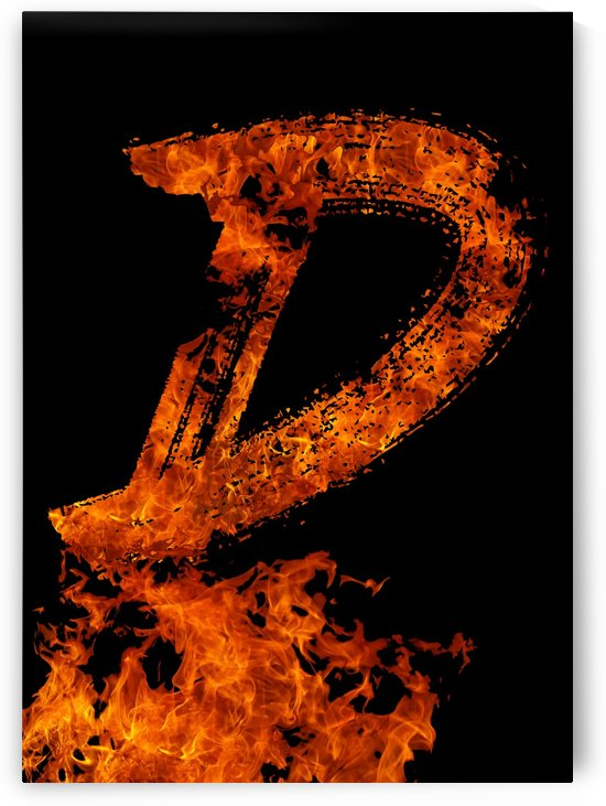Burning on Fire Letter D by Artistic Paradigms