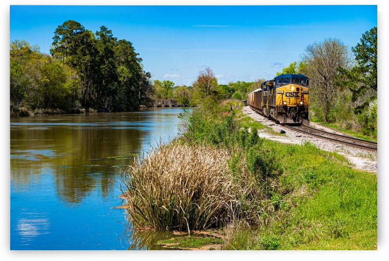 CSX Train along the Augusta Canal GA 02909 by @ThePhotourist
