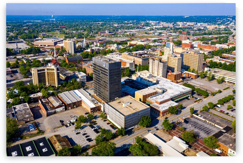 Downtown Augusta GA Skyline Aerial View 0708 by @ThePhotourist