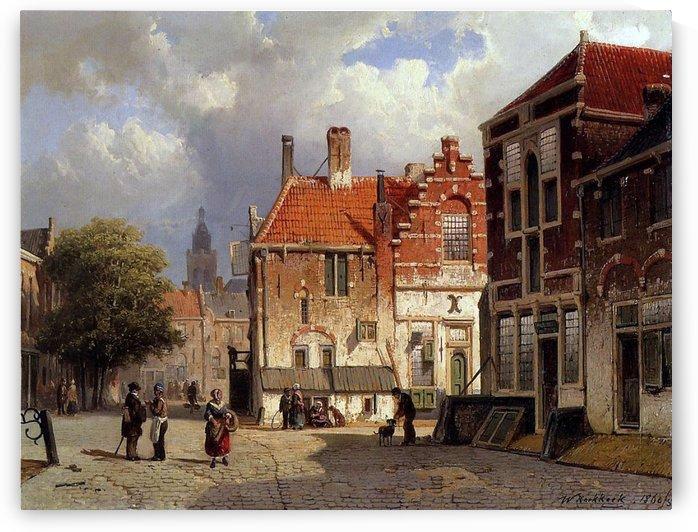 Town Square by Willem Koekkoek