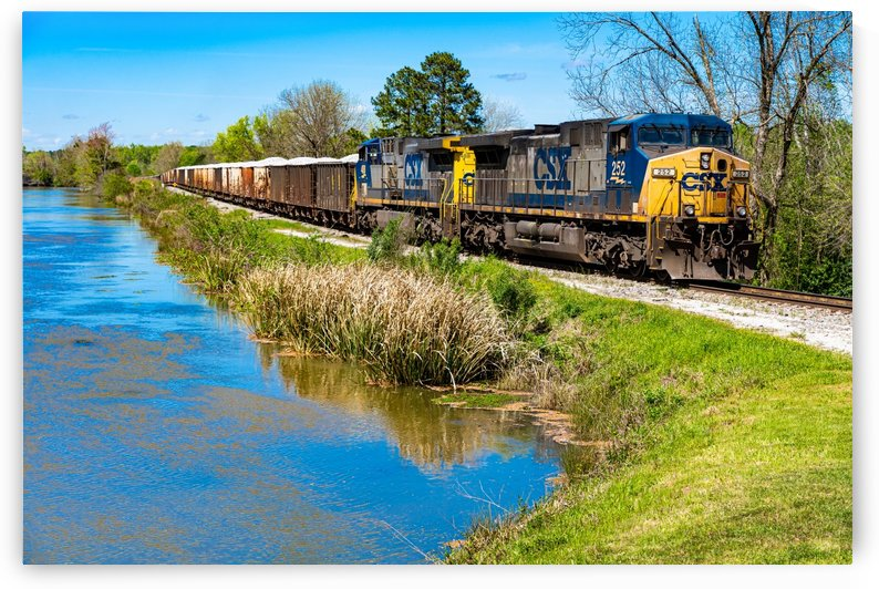 CSX Train along the Augusta Canal GA 02953 by @ThePhotourist