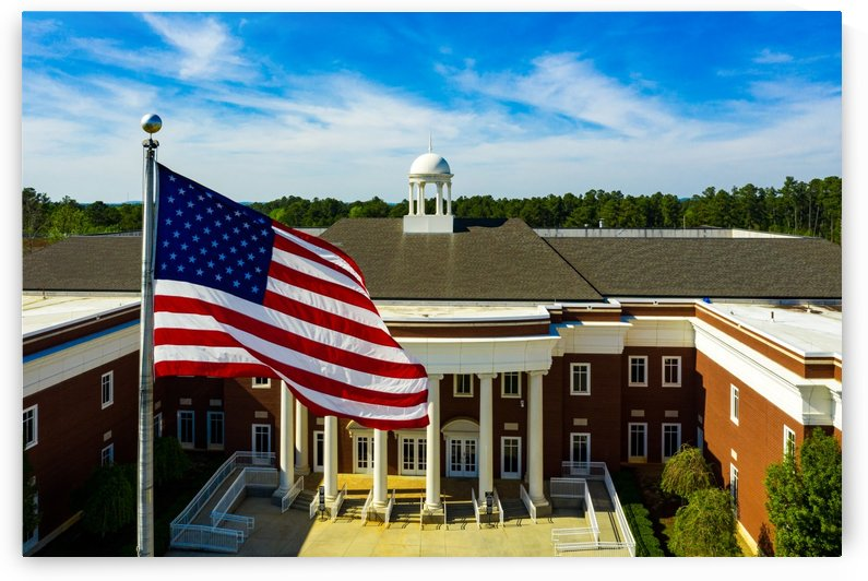 American Flag at Justice Center in Columbia County Evans GA 0516 by @ThePhotourist