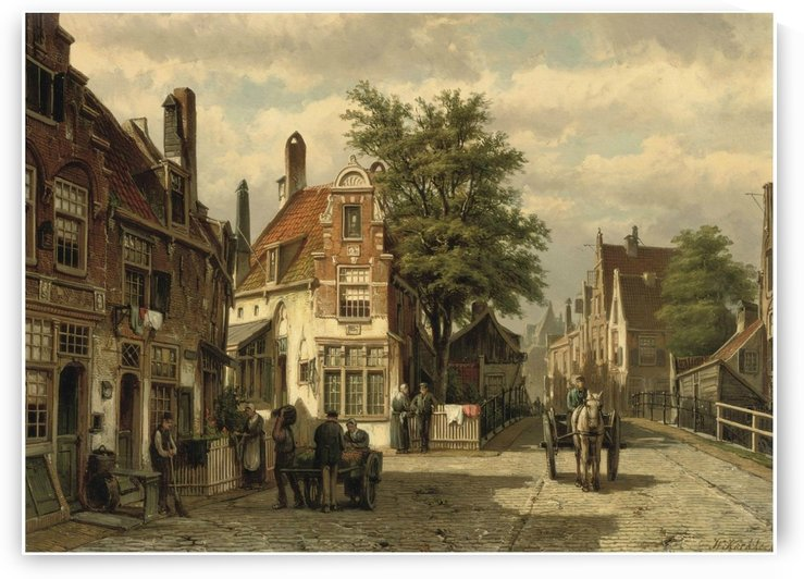 A street in Amsterdam in summer by Willem Koekkoek