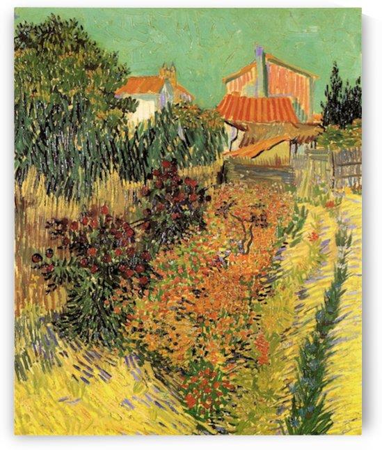 Garden Behind a House by Van Gogh by Van Gogh
