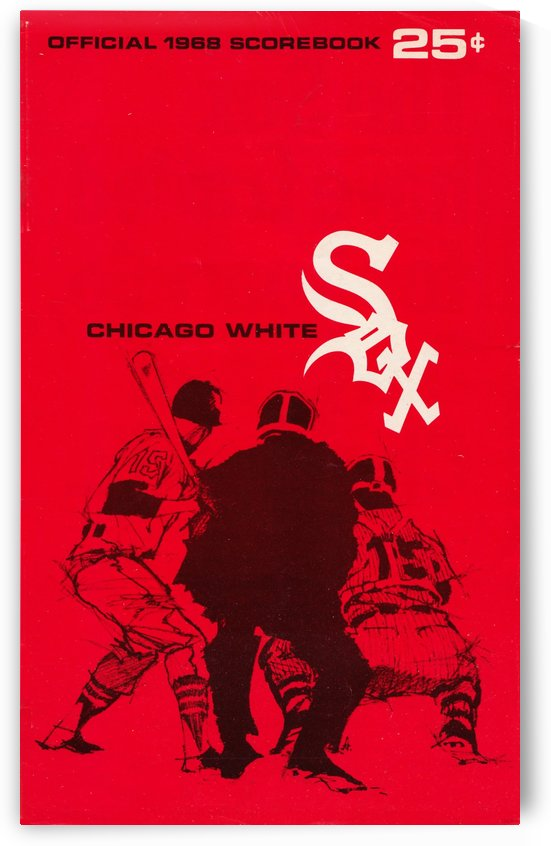 1968 chicago white sox scorebook vintage baseball art by Row One Brand