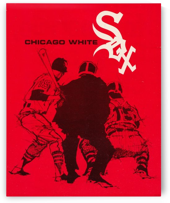chicago white sox vintage baseball art by Row One Brand